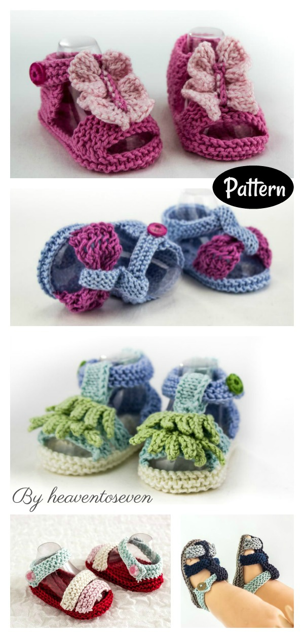 Baby Summer Sandals Knitting Pattern