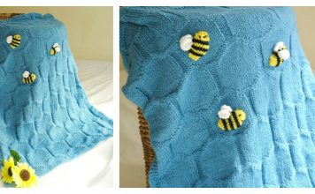 Bee Baby Blanket Knitting Pattern