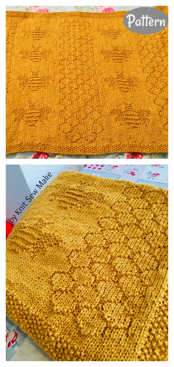 Bumble Bee Blanket Knitting Pattern