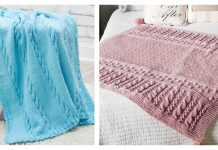 Cable Baby Blanket Free Knitting Pattern