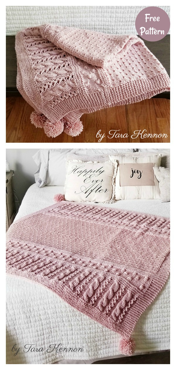 Claire's Cable Baby Blanket Free Knitting Pattern