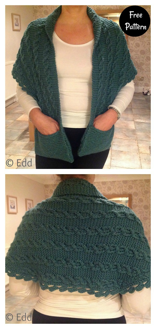 Contralto Pocket Shawl Free Knitting Pattern