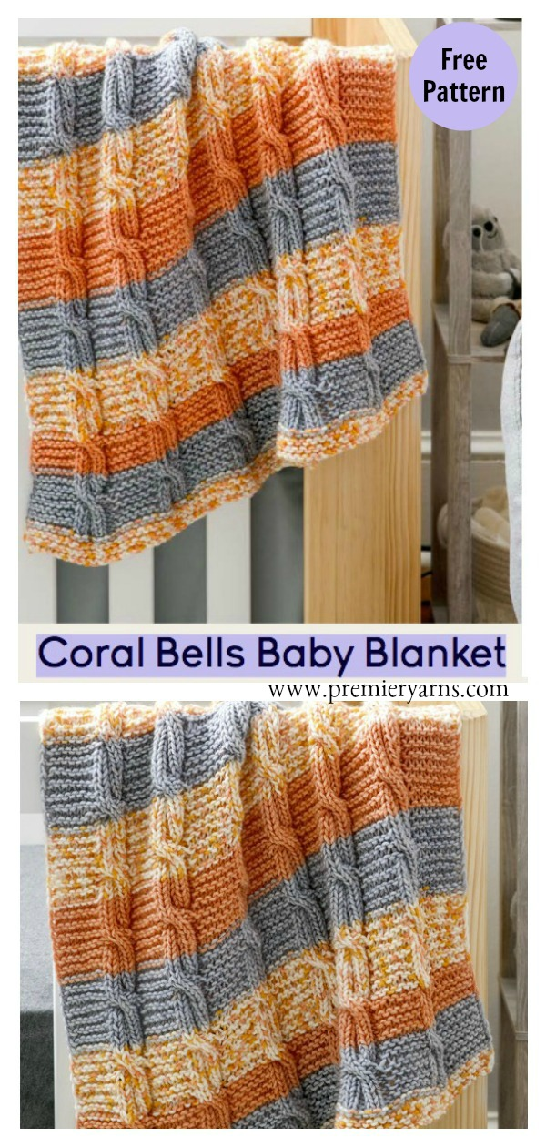 Coral Bells Cable Baby Blanket Free Knitting Pattern