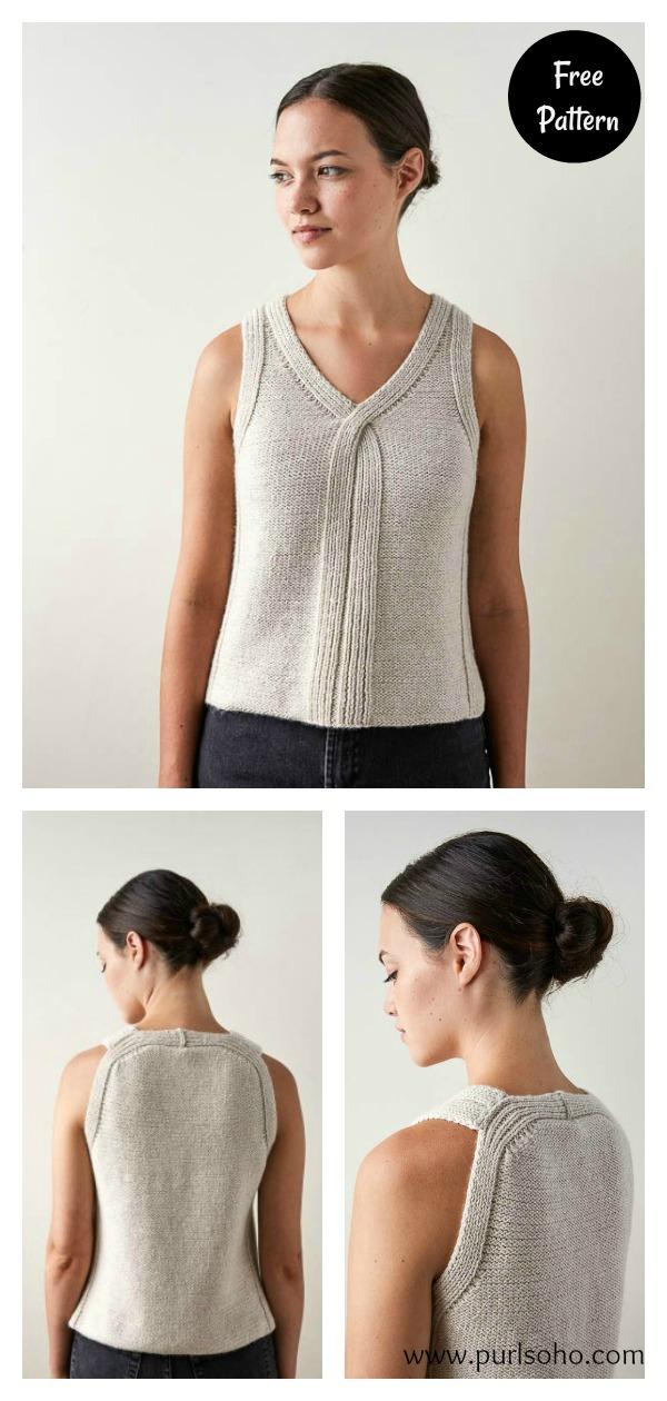 Criss Cross Summer Tank Top Free Knitting Pattern