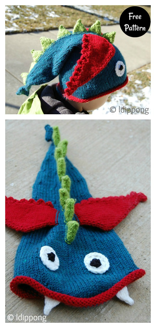 Dragon Hat Free Knitting Pattern