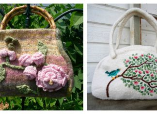 Felted Floral Bag Free Knitting Patterns