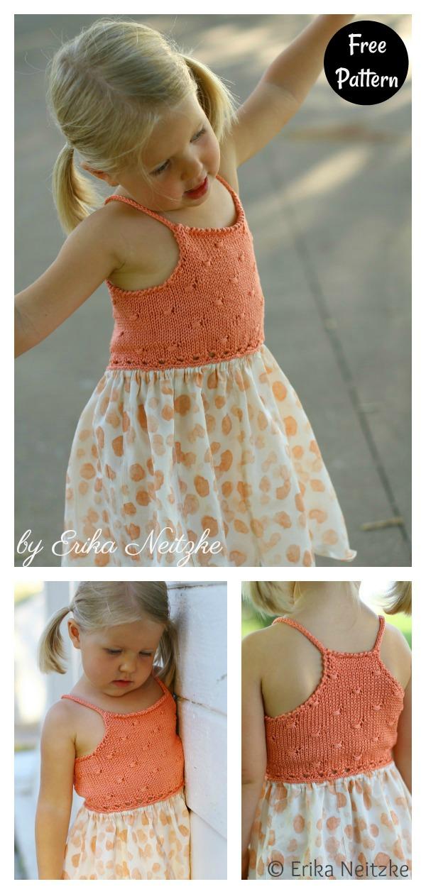 Flitter Mixed Media Baby Dress Free Knitting Pattern