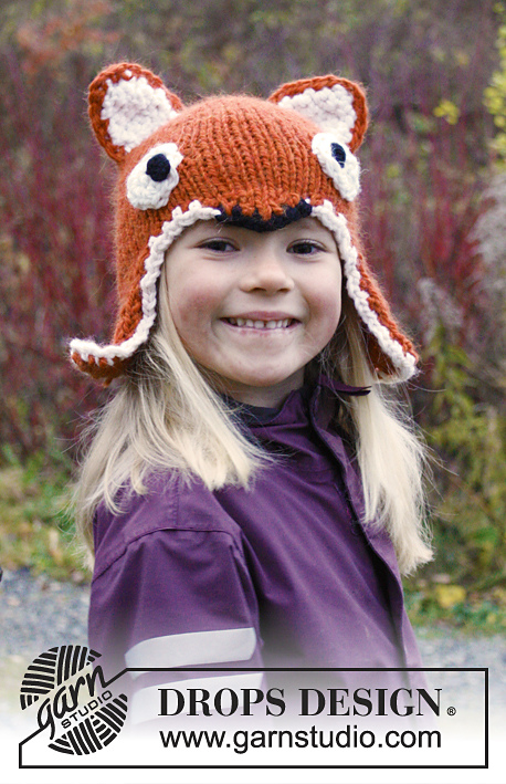 Fox Hat Earflap Hat Free Knitting Pattern