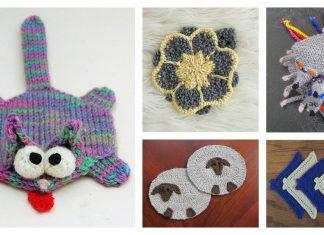 Fun Animal Coaster Free Knitting Pattern and Paid