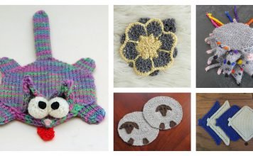 Fun Animal Coaster Free Knitting Pattern and Paid