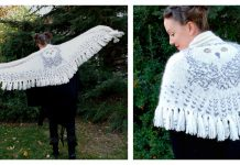 Hedwig Owl Wrap Knitting Pattern