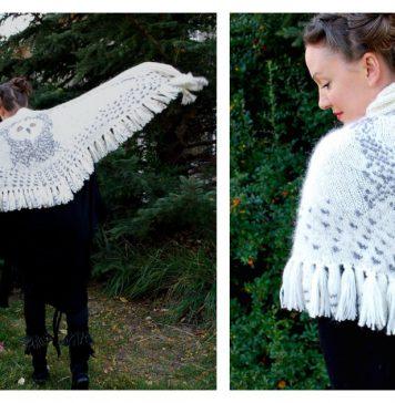 Hedwig Owl Wrap Knitting Pattern
