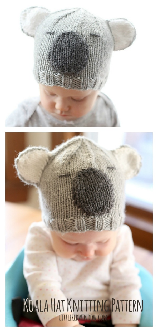 Koala Hat Free Knitting Pattern