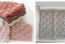 Lace Diamond Dishcloth Free Knitting Pattern