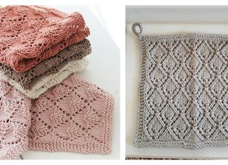 Lace Diamond Dishcloth Free Knitting Pattern