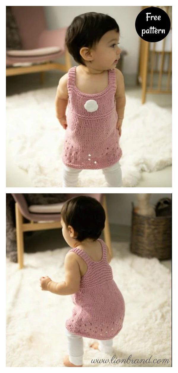 Lilybelle Flower Dress Free Knitting Pattern