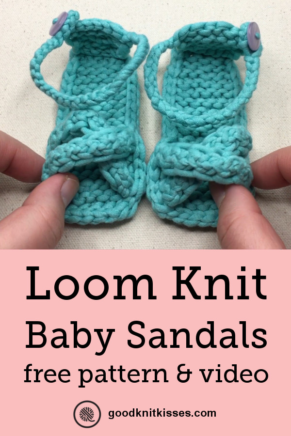 Loom Knit Baby Sandals Free Pattern and Video Tutorial