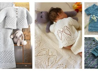 Lovely Baby Cardigan and Blanket Set Knitting Pattern