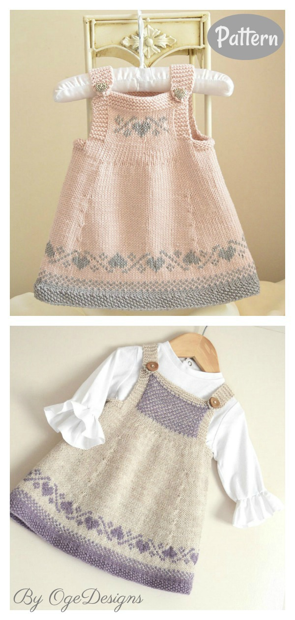 Luv U Forever Pinafore Dress Knitting Pattern