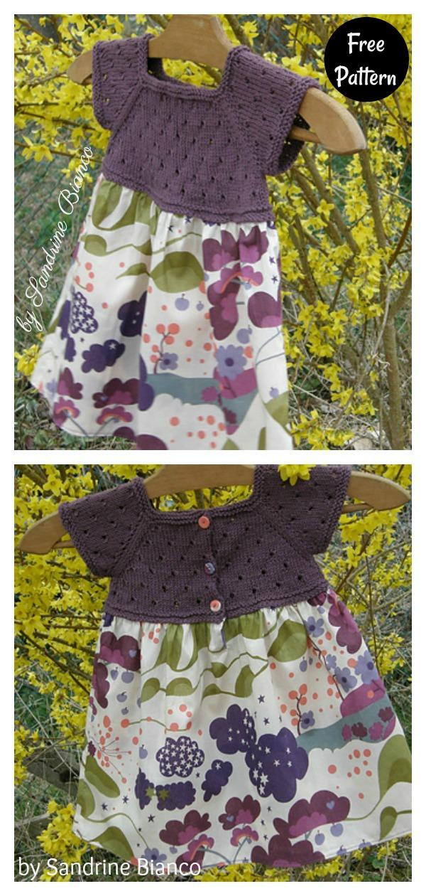 Mixed Media Dress Free Knitting Pattern