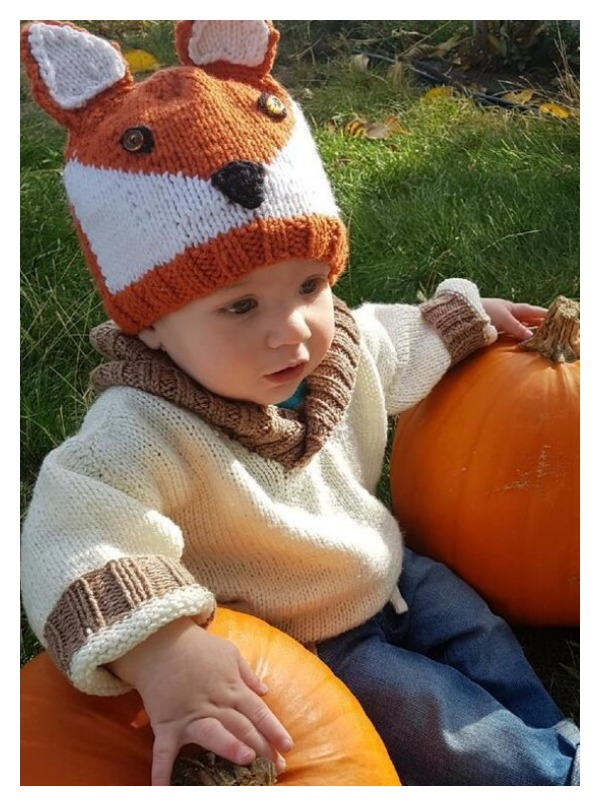 Owen's Fox Hat Free Knitting Pattern