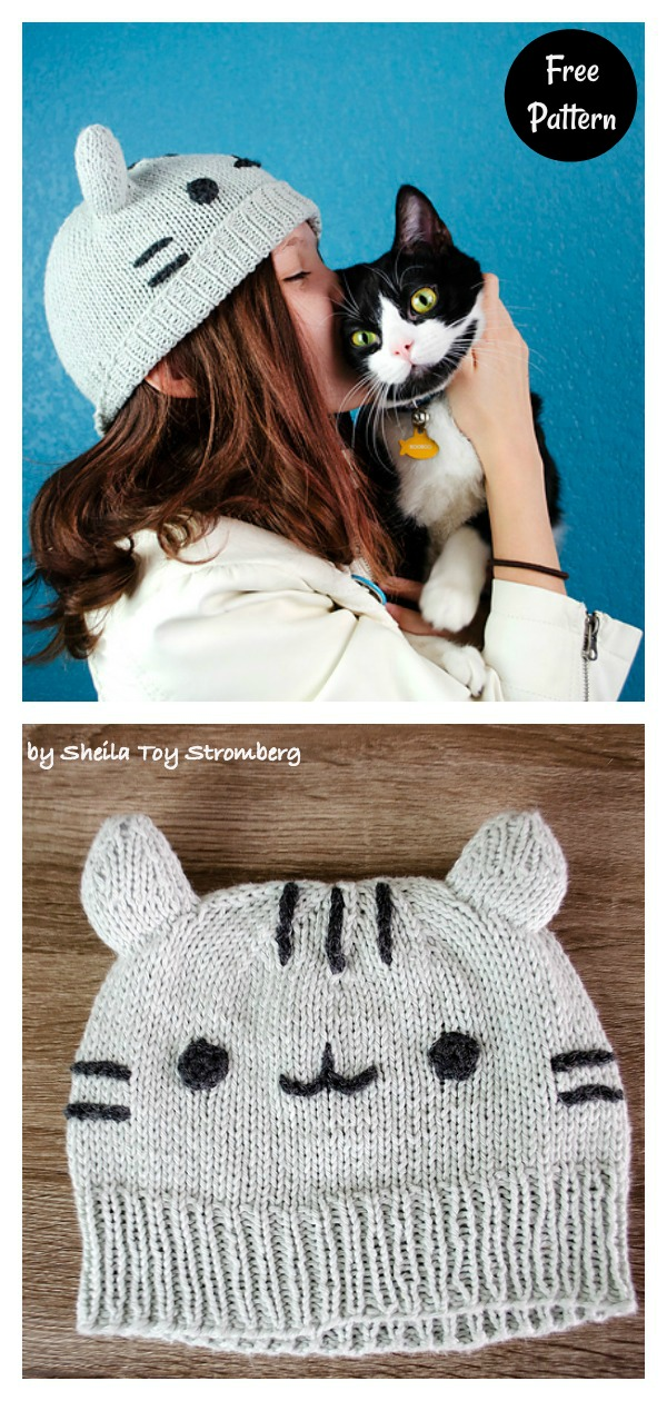 Pusheen Cat Hat Free Knitting Pattern