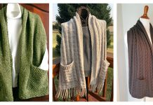 Reader's Wrap Pocket Shawl Knitting Patterns