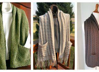 Reader's Wrap Pocket Shawl Knitting Patterns