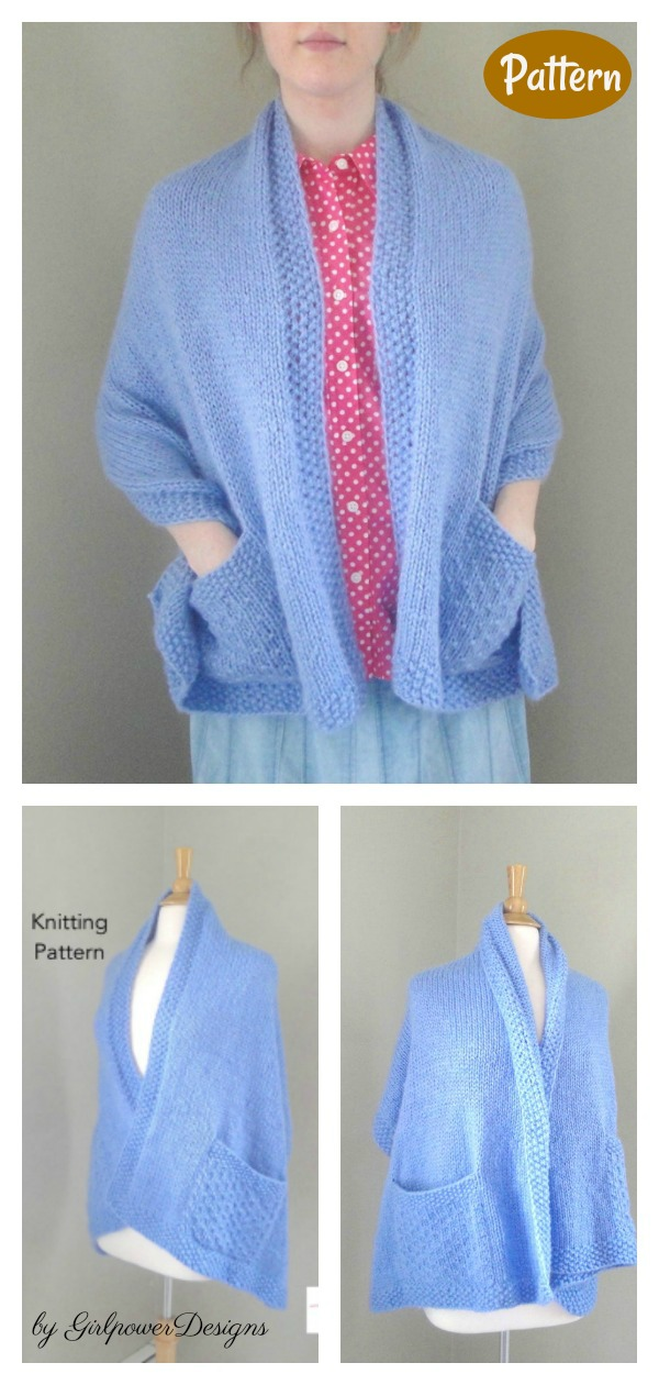 Read's Wrap with Pockets Knitting Pattern