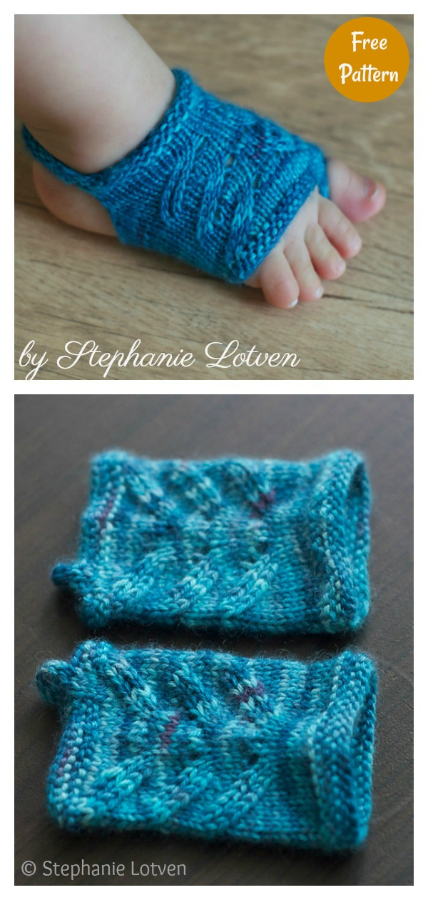Showsy Toes Baby Sandal Socks Free Knitting Pattern