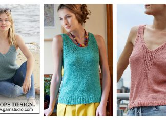Summer Tank Top Free Knitting Pattern