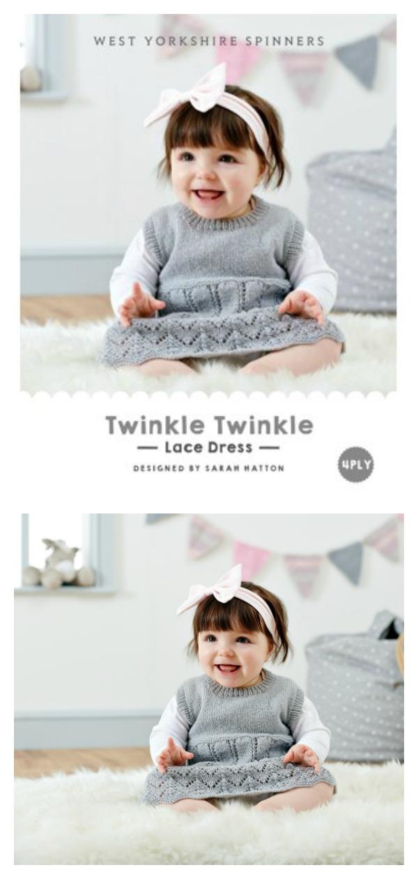 Twinkle Twinkle Lace Dress Free Knitting Pattern