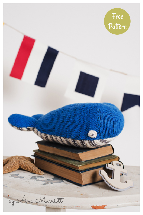 Walter the Whale Free Knitting Pattern
