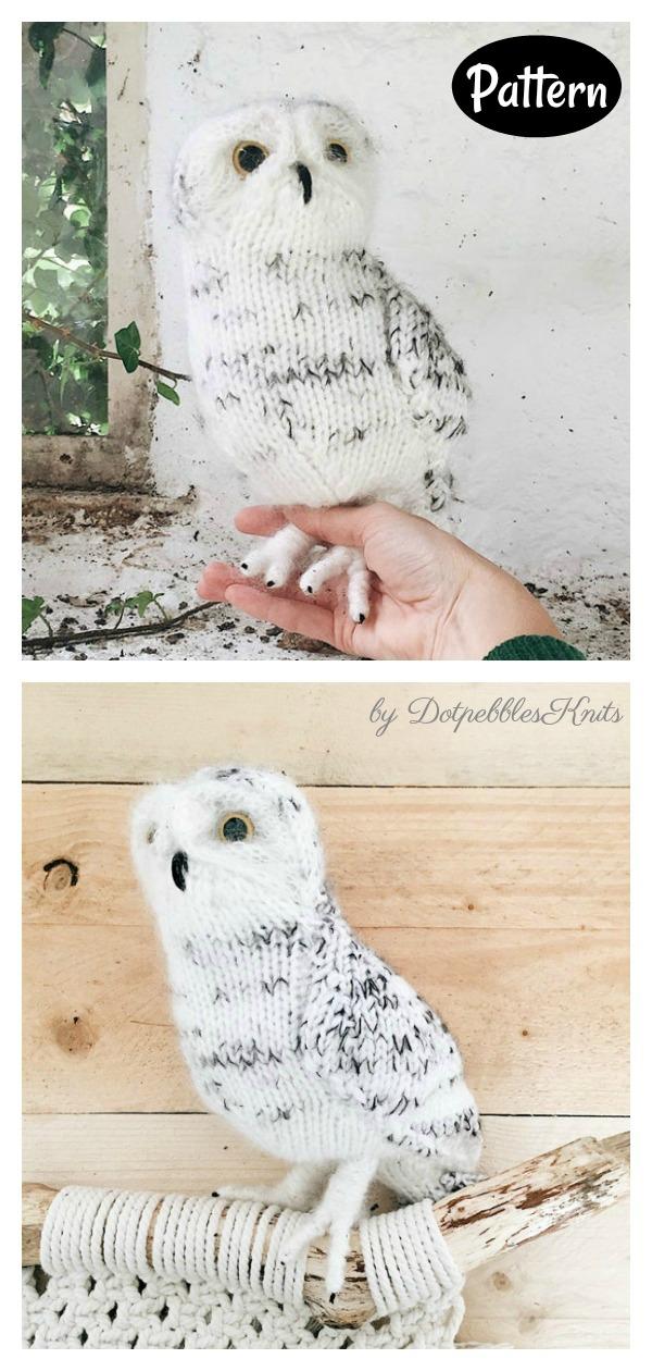Adorable Amigurumi Snowy Owl Knitting Pattern