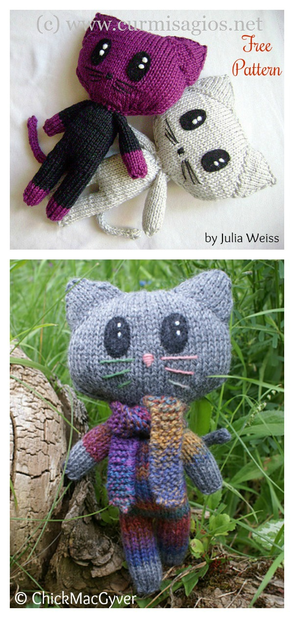 Amazing Kitten Cat Amigurumi Free Knitting Pattern