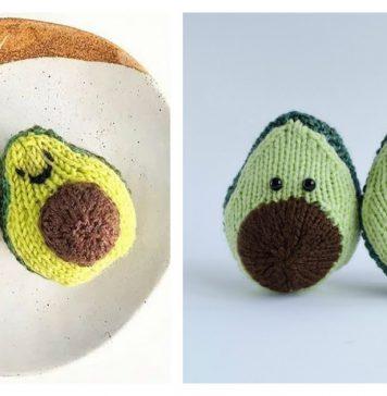 Avocado Free Knitting Pattern