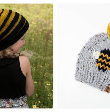 Bee Hat Knitting Patterns