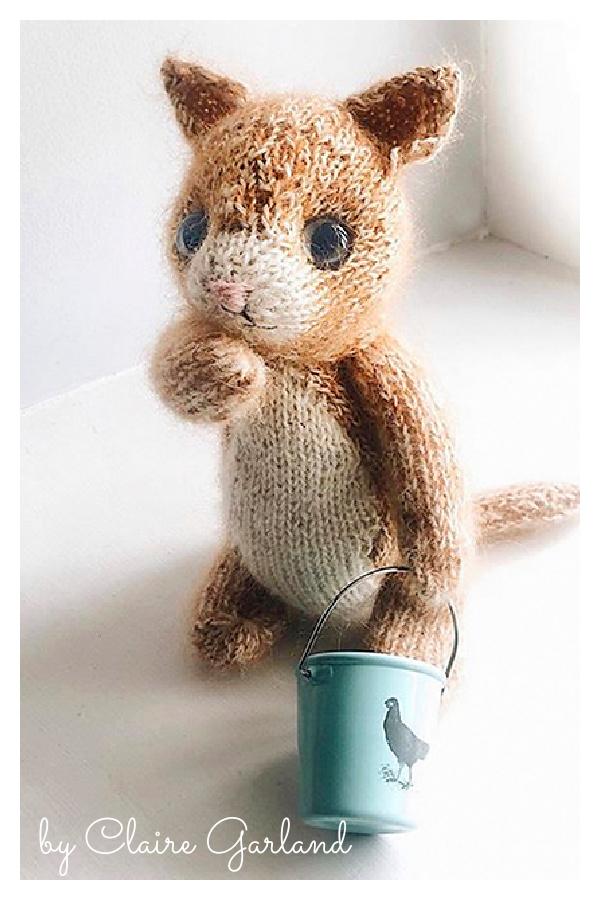 Beginner's Kitten Amigurumi Knitting Pattern