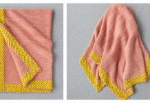 Bobble Border Blanket Free Knitting Pattern