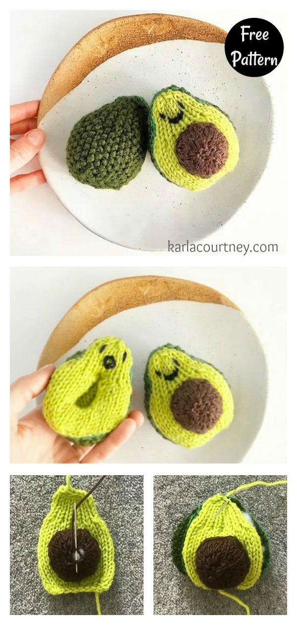 Cute Avocado Free Knitting Pattern