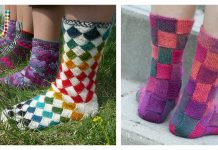 Entrelac Socks Free Knitting Pattern