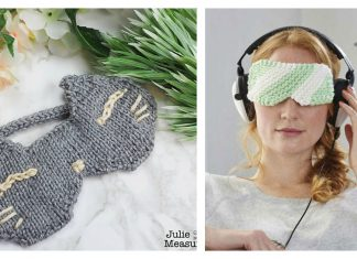 Eye Mask Free Knitting Pattern