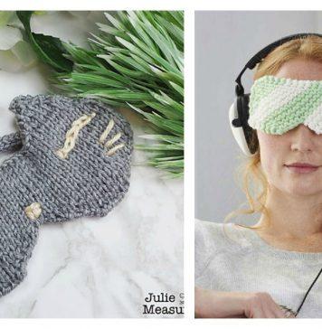 Eye Mask Free Knitting Pattern