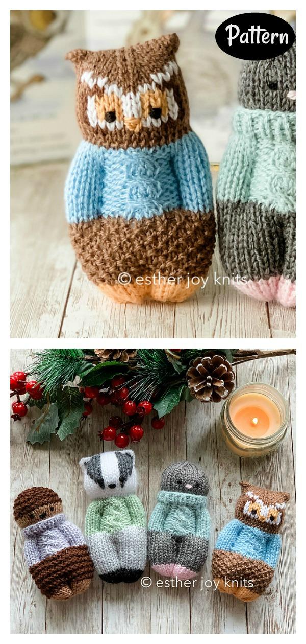 Forest Friends Knitting Pattern