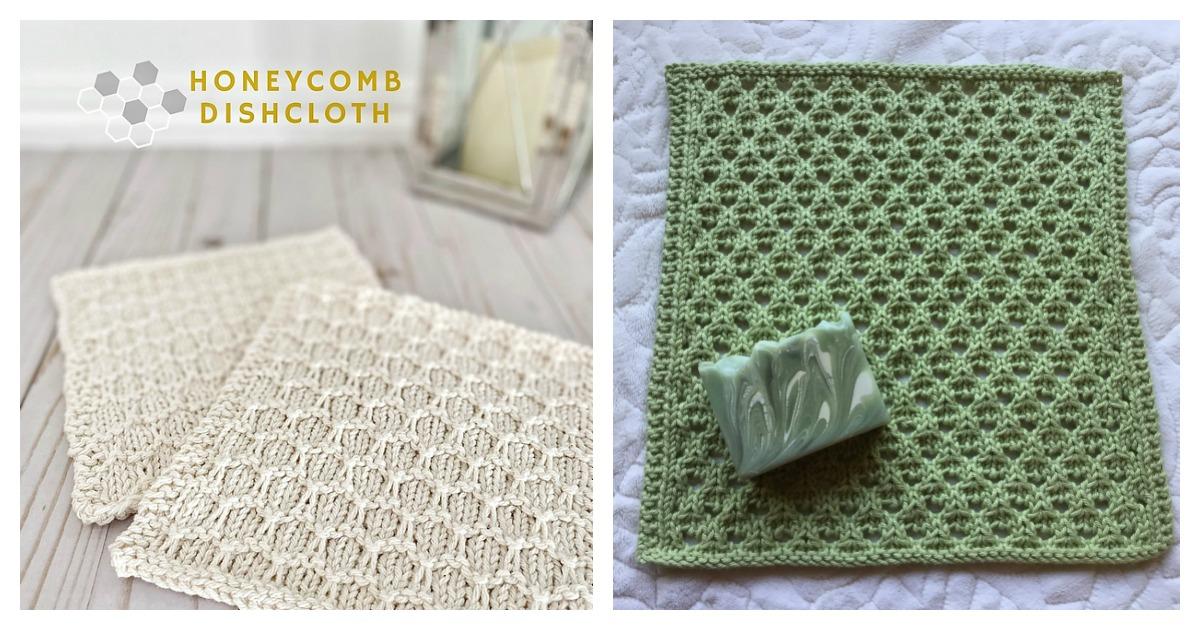 Honeycomb Dishcloth Free Knitting Pattern