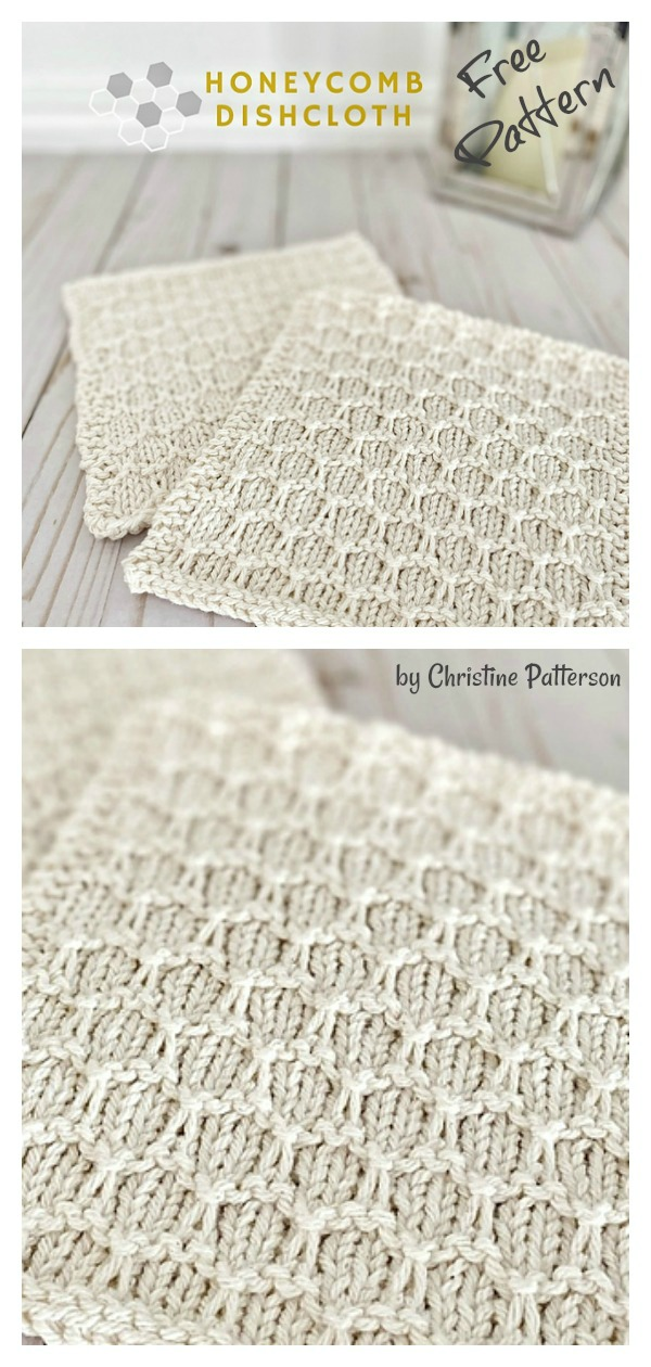 Honeycomb Dishcloth Free Knitting Pattern