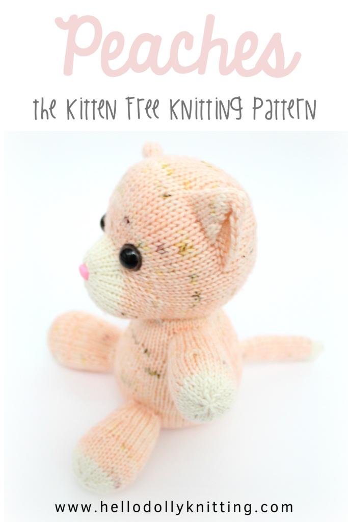 Peaches the Kitten Free Knitting Pattern