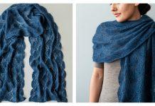 Seashell Lace Wrap Free Knitting Pattern