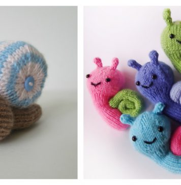 Snail Free Knitting Pattern