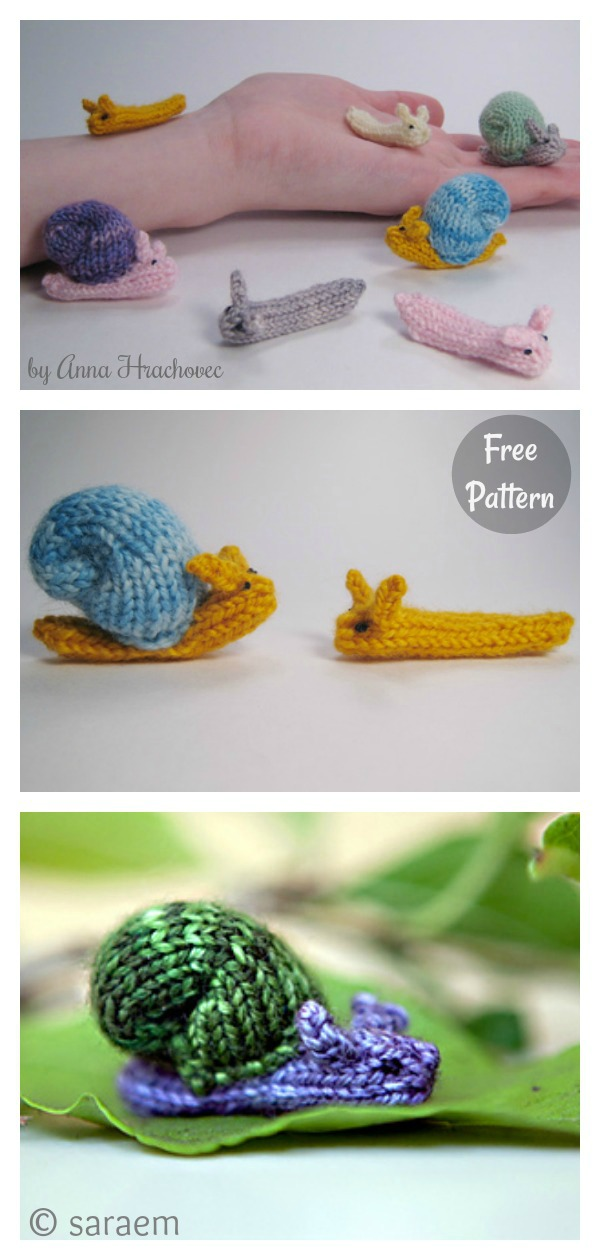Snails and Slugs Free Knitting Pattern